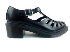 Dr. Martens Jocelyn T-Bar Black Leather Buckle Sandal Womens US 10  UK 8 EU 42
