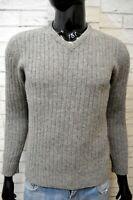 LEVI'S Maglione Uomo Taglia S Pullover Lana Felpa Sweater Man Cardigan Grigio