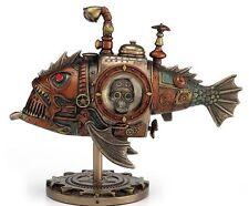Steampunk Submarine - Melanocetus-Unus Anglerfish Statue Sculpture Figure