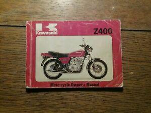 KAWASAKI Z400 B2 OWNERS MANUAL / HANDBOOK / BOOKLET