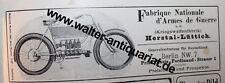Motorrad Kriegswaffenfabrik Herstal Lüttich Liège Werbeanzeige anno 1905 Reklame
