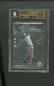2001 SP Authentic Golf Honor Roll Tiger Woods #HR1 Insert BGS 9.5