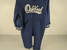 Oshkosh BGosh One Piece Hooded Logo Zippered Jumpsuit....