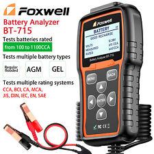 Foxwell BT-715 Car Battery Analyzer Tester 12V & 24V Charging System 100-2000CCA