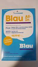 Blau.de All-In Prepaid-Karte ohne Vertragsbindung