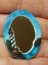 Dollhouse Miniature Home Decor Lighthouse Mirror Oval 1:12 HANDCRAFTED by Me