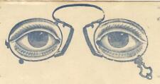 Antique 1910s Illustrated Opthalmologist Letterhead Eye Doctor Eyeglasses