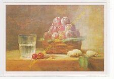 CP ART TABLEAU JEAN BAPTISTE CHARDIN Un Panier de prunes
