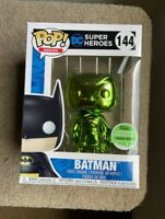 RARE Batman Emerald Chrome ECCC LE1500 Funko Pop Vinyl New in Mint Box + P/P