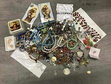 New listing Religious Items Lot Pins Crosses Bracelets Box