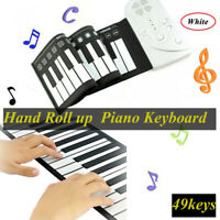 Portable Hand Roll Up Folding Piano Keyboard for Kids Music Beginner 49 Keys US
