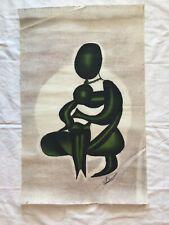 Batik Mother Hugging Child Textile Fabric Art Kenyan Artist