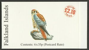 Falkland Islands 1998 £2.10 Rare Visiting Birds complete booklet SG SB12.