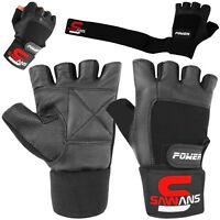 SAWANS Gym Workouts Weight Lifting Body Building Fitness Training Gloves Straps