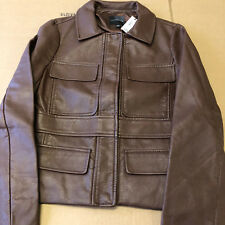 The Limited Women's Dark Brown Faux Leather Jacket Size Small 7217318 NEW