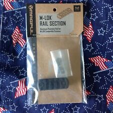 Black Aluminum Rail Sections , 5 Slots( Nib)