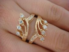 14K YELLOW GOLD 0.40 CT T.W. DIAMOND GUARD FOR ENGAGEMENT RING SIZE 7.5
