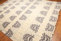 9' x 12' Contemporary Ikat Hand Knotted Wool Full Pile Oriental Area Rug 9x12