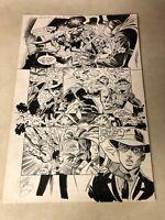 SLUDGE #9 original art WILD BATTLE PAGE ultraverse 1994 LORD PUMPKIN SIGNED