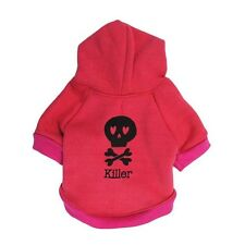 RED KILLER  BOY DOG JUMPER HOODY CHIHUAHUA YORKIE PUPPY TOY 18CM TEACUP TINY