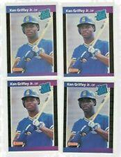 1989 donruss rookie baseball lot  ken griffy jr #33 hall of fame