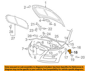VW VOLKSWAGEN OEM 05-14 Jetta Hood-Handle Bracket 1K1823633B
