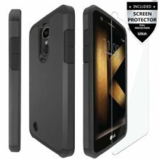 LG K20/K20 Plus/LG K20V Case Screen Protector Hard Shockproof Slim Rubber New