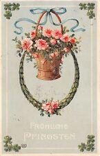 BG3934  rose clover pfingsten Pentecost flower   germany greetings