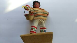 ART (19XX) Mexican Doll -- Woman Carrying Basket