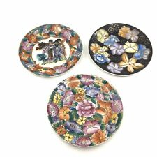 3 Floral Hand Painted Chinese Decorative Plates