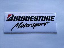 MOTORSPORTS RACING TYRE SEW ON / IRON ON PATCH:- BRIDGESTONE MOTORSPORT (f)