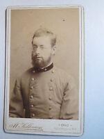 Graz - Soldat in Uniform mit Sternen am Kragen / CDV