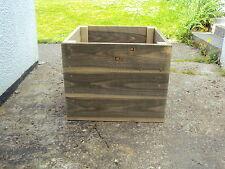 "Handmade Square Wooden Pot Planter Build Around Post Tree ETC  22"" x 22"""