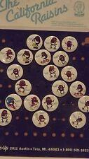 Vintage 1987 California Raisins Pins Pinbacks Set of 20 on Original Display Card