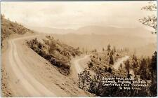 RPPC REDWOOD HIGHWAY, CA  SWITCH-BACK in MOUNTAINS  1929 Patterson  Postcard