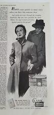1951Clark burial grave Vault casket lady man smoking pipe peace ad