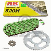 Kit de Cadena Kawasaki KDX 220 97-05 Cadena RK CG 520 H 108 Abierto Verde 13/47