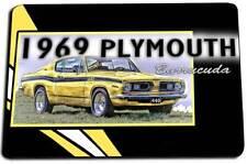 1969 Plymouth 440 Barracuda Mopar Muscle Car Design Indoor Door Rug