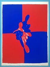Roland GÖSCHL Sérigraphie 53ans Originale 1965 Signée Abstrait Op art 82x60cm