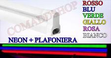 PLAFONIERA completa DI NEON LED TUBO T8 colorato  60-120-150 CM 220V SOFFITTO