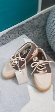 Zara Kids Boys Brown/ Beige Suede Lace up Shoes UK 10.5 EU 28 rrp £17.99