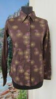 DESIGUAL Blouse Shirt Long Sleeve Brown Size M