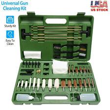 163 Pcs Universal Gun Cleaning Kit Rifle Pistol Shotgun Firearm Brushes Cleaner