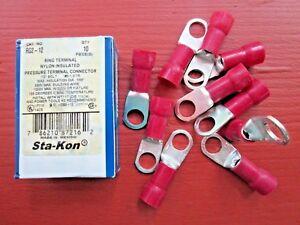"Box/10 Thomas & Betts Sta-kon RG2-12 Ring Connector 1/2"" Bolt #2-1 STR New"