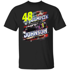 Men's #48 Jimmie Johnson Nascar 2020 Short Sleeve Black T-shirt S-5XL