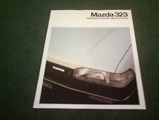 1987 1988 MAZDA 323 3 / 4 / 5 DOOR + GTX TURBO GT 1.6i BELGIAN BELGIUM BROCHURE
