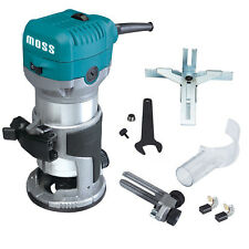 "Moss 3/8"" & 1/4"" Electric Hand Trimmer Wood Laminator Router Joiners Tool 220V"