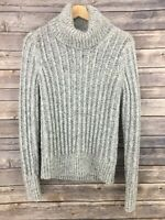 Banana Republic Women's Size Small Gray Blend Chunky Knit Cowl Neck Sweater