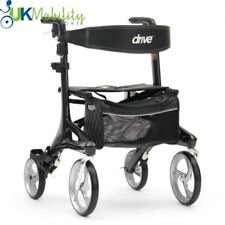 Carbon Fibre Ultra Lightweight 4 Wheel Walker Rollator Mobility Walking Aid