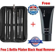 Pilaten + 7pcs Blackhead Acne Pimple Blemish Extractor Remover Tool Kit Set